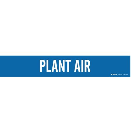 Pipe Marker, Plant Air, Bl, 8 In or Greater