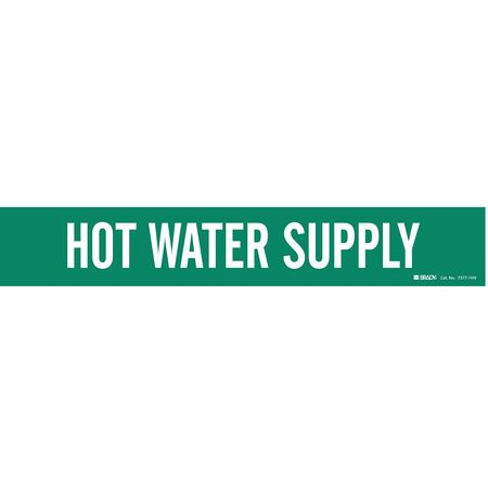 Pipe Mrkr, Hot Water Supply, 8 In or Grtr