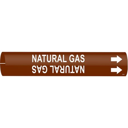 Pipe Marker, Natural Gas, 1-1/2to2-3/8 In