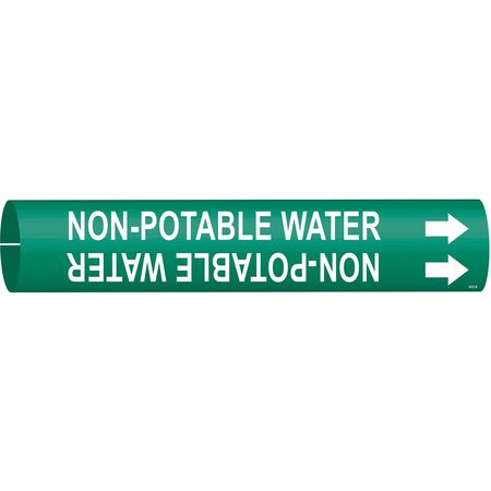 Pipe Mrkr, Non-Potable Water, 1-1/2to2-3/8