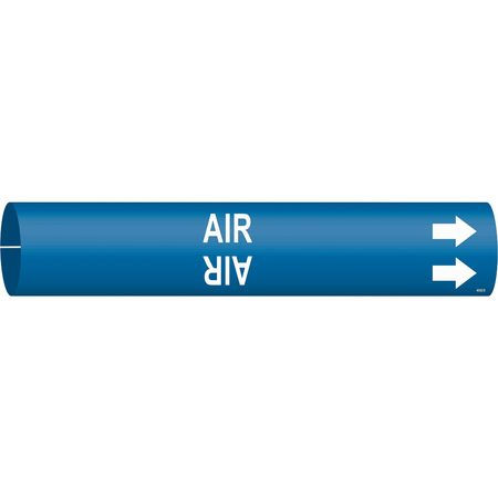 Pipe Marker, Air, Blue, 4 to 6 In