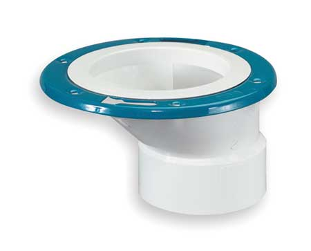 "4"" x 3"" Hub PVC Closet Flange with Offset Metal Ring"