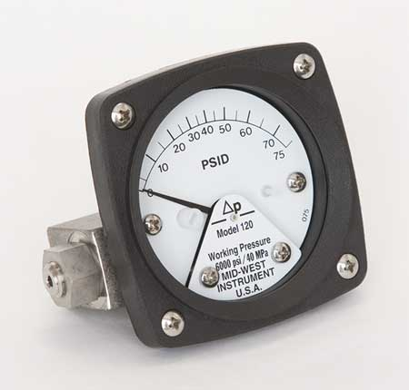 Pressure Gauge, 0 to 75 psi