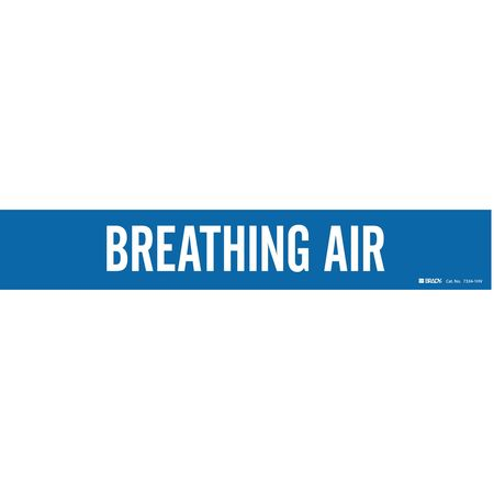 Pipe Marker, Breathing Air, Bl, 8 In orGrtr