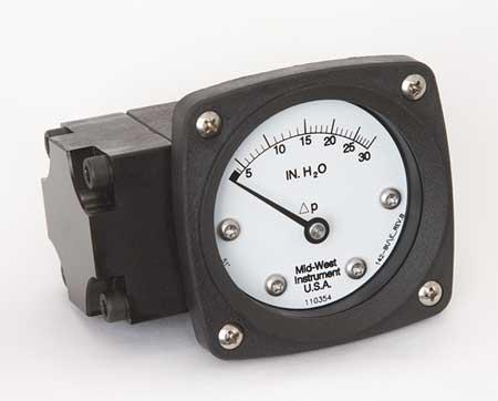 Pressure Gauge, 0 to 30 In H2O