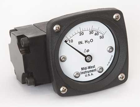 Pressure Gauge, 0 to 50 In H2O
