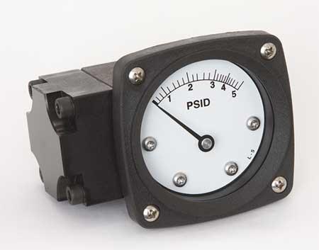 Pressure Gauge, 0 to 5 psi