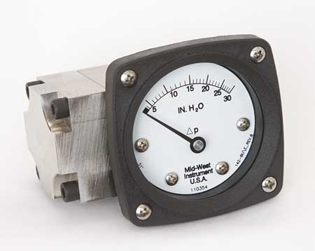 Pressure Gauge, 0 to 30 In H2O