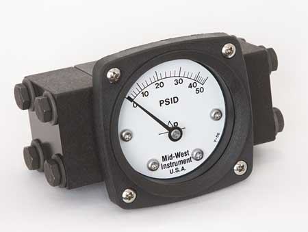 Pressure Gauge, 0 to 50 psi