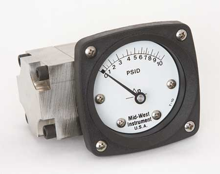 Pressure Gauge, 0 to 10 psi