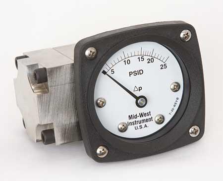 Pressure Gauge, 0 to 25 psi