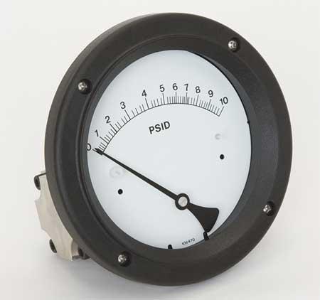 Pressure Gauge, 0 to 10 psi