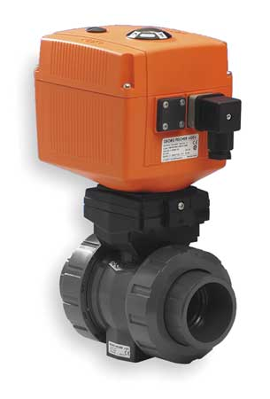 "1-1/4"" Socket PVC Electronic Ball Valve 2-Way"
