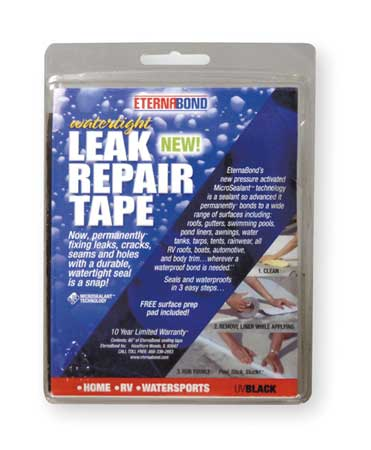 Roof Repair Tape Kit, 4 In x 5 Ft, Black