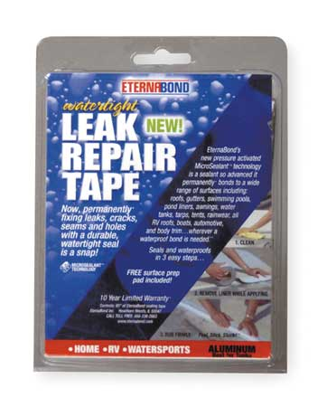 Roof Repair Tape Kit, 4 In x 5 Ft, Metal