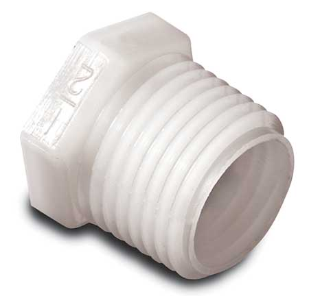 Plug, Threaded, 1 1/2 In, Nylon