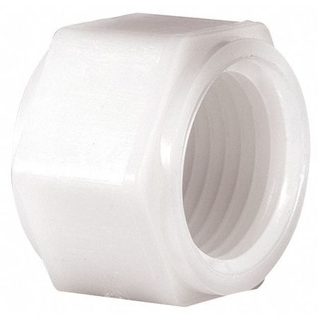 Hex Cap, Threaded, 1/4 In, Nylon