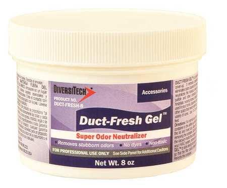 Duct Odor Neutralizer, Gel, 8 oz., White