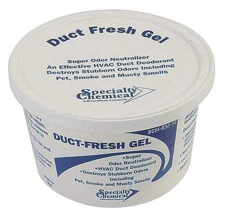 Duct Odor Neutralizer, Gel, 16 oz., White