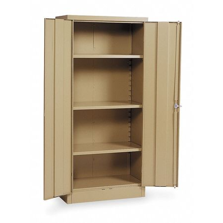 Storage Cabinet, Tan, 66 In H, 30 In W