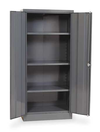Storage Cabinet, Gray, 66 In H, 30 In W