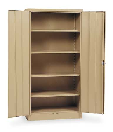 Storage Cabinet, Tan, 78 In H, 36 In W