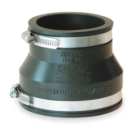 "Flexible Coupling, For Pipe Size 5"" x 3"""