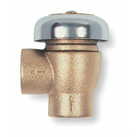 Vacuum Breaker, 3/8In, FNPT, Bronze, 125 psi