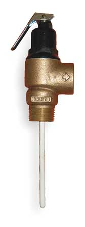 T and P Relief Valve, FNPT, 1-1/2 In Inlet