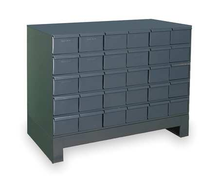 Drawer Bin Cabinet, 11-3/4 In. D, 34 In. W