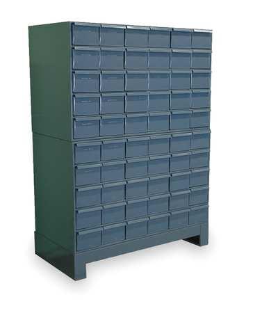 Drawer Bin Cabinet, 11-3/4 In. D, 34 In. W