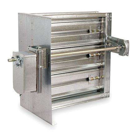 Square Smoke Damper, 24V, 9-3/4 In. W