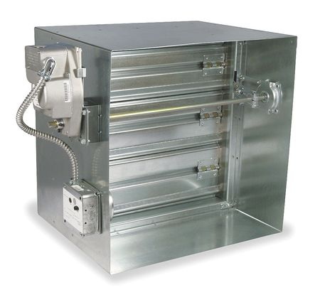 Square Fire/Smoke Damper, 15-3/4 In. W