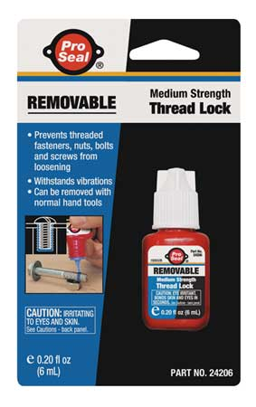Removable Threadlocker, 6mL Bottle, Blue