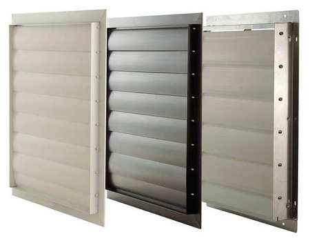 Exh Shutter, Agricultural, 24 In, White PVC