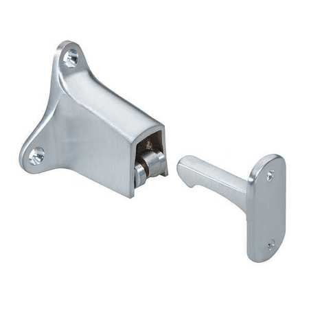 Door Stop, Wall-Mount, Satin Chrome