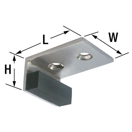 Header Door Stop, Satin Nickel