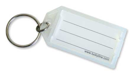 ID Key Tags with Flap, Clear, PK10