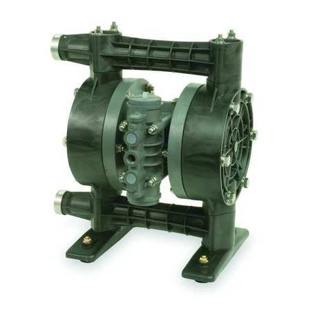 "1"" Kynar Air Double Diaphragm Pump 49 GPM 212F"