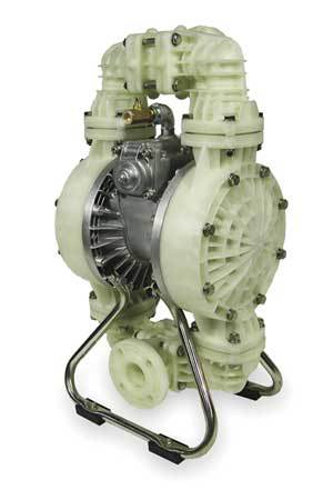 "2"" Polypropylene Air Double Diaphragm Pump 120 GPM 180F"