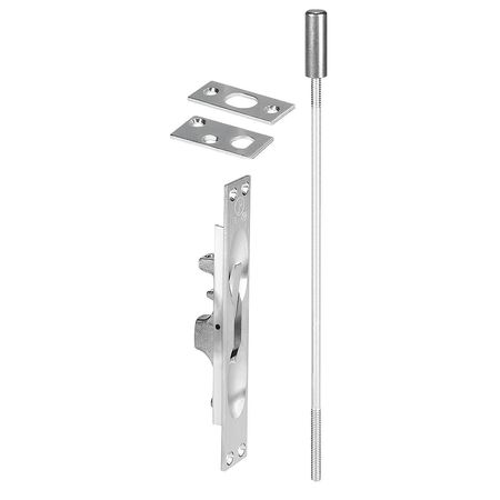 Lever Extension Flush Bolt, Satin Chrome
