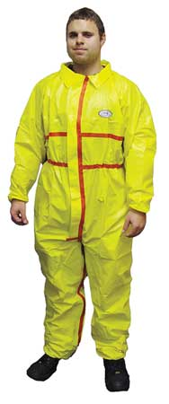 Chemsplash 1(R), Yellow, Elastic, 3XL, PK6