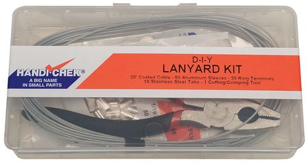 Lanyard Assembly Kit, 3/64 In, Galv