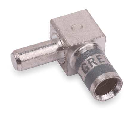 Flag Connector, Male, 4 AWG, Gray
