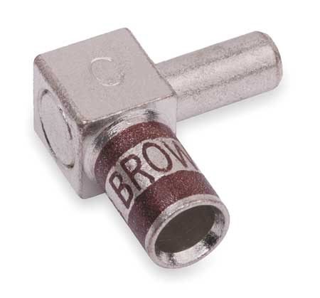 Flag Connector, Male, 2 AWG, Brown