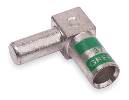 Flag Connector, Male, 1 AWG, Green