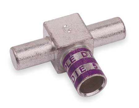 Tee Connector, Male, 4/0 AWG, Purple