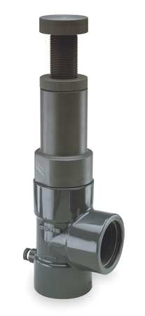 Adjustable Relief Valve, 1 In, 25 psi, PVC