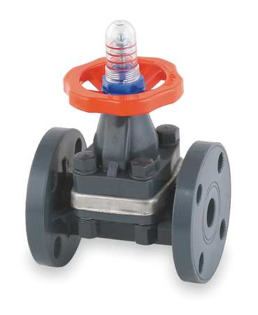 Diaphragm Valve, 2-Way, 2 In., FNPTxSocket