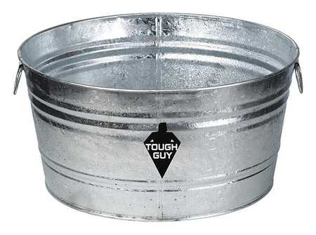 Utility Tub, 9 gal., Silver